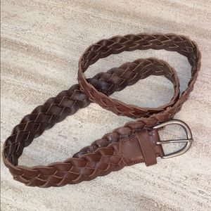 American Eagle Brown Braided Leather Belt